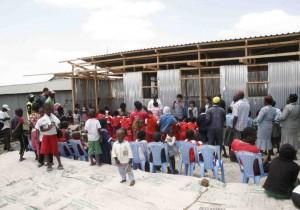 ナイロビ・ムクルにおける小学校教室の建設