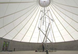 テンセグリティ建築「ホワイトライノⅡ」が柏キャンパスに竣工しました.